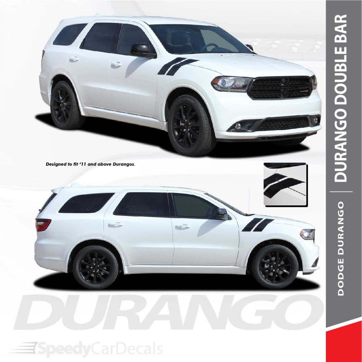 "4/"" Dual Fender Stripe Hash Mark Stripe Decal Graphic Kit For Dodge Durango"