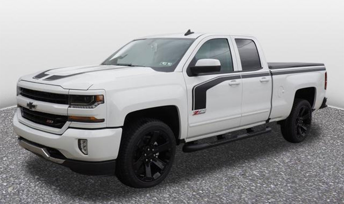 Chevy Silverado 2017 Special Edition >> 2018 Chevy Silverado 1500 Stripes Flow Kit 2016 2017 2018 Avery Supreme Or 3m 1080 Wrap Vinyl