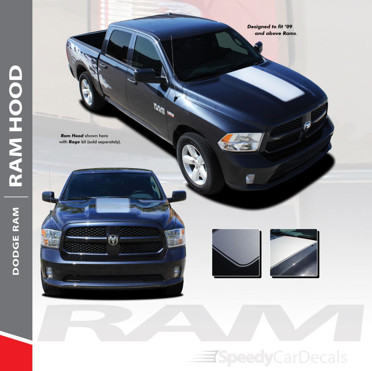 Center Dodge 1500 Ram Hood Stripes 2009 2018 2019 2021 Ram Classic