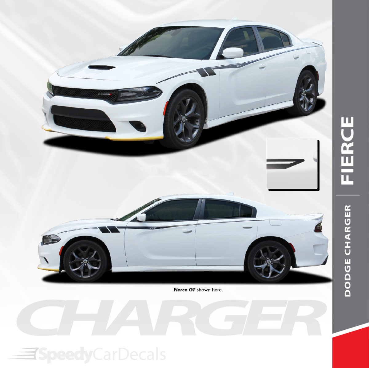 2015-2021 Dodge Charger Side Body Graphics FIERCE