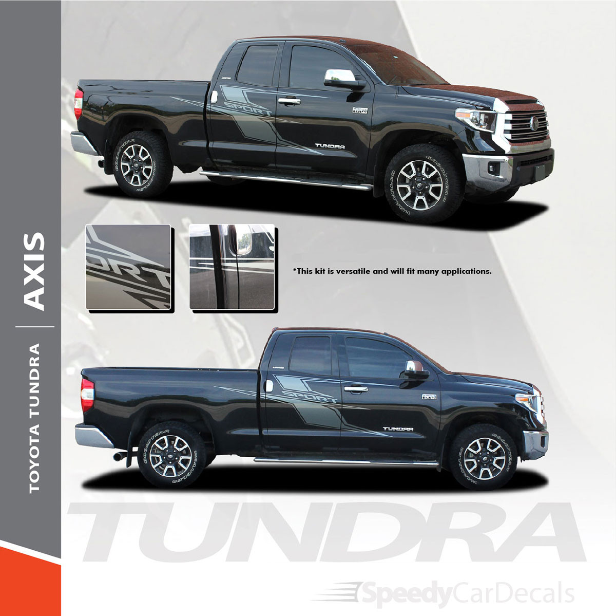 NEW! 2015-2021 Toyota Tundra Door Side Graphics AXIS SPORT