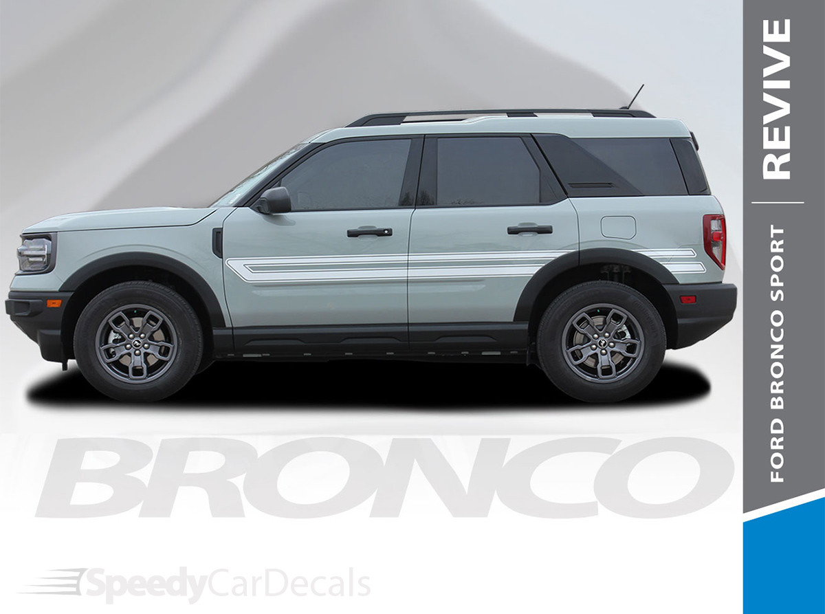 NEW 2021 Ford Bronco Stripe Packages REVIVE SIDE 2021+ All Models