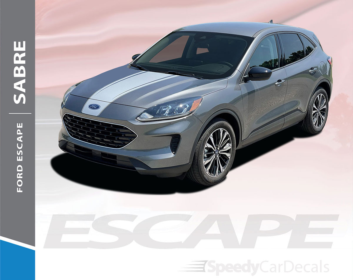 NEW! 2021 Ford Escape Hood Stripe SABRE HOOD 2020-2021