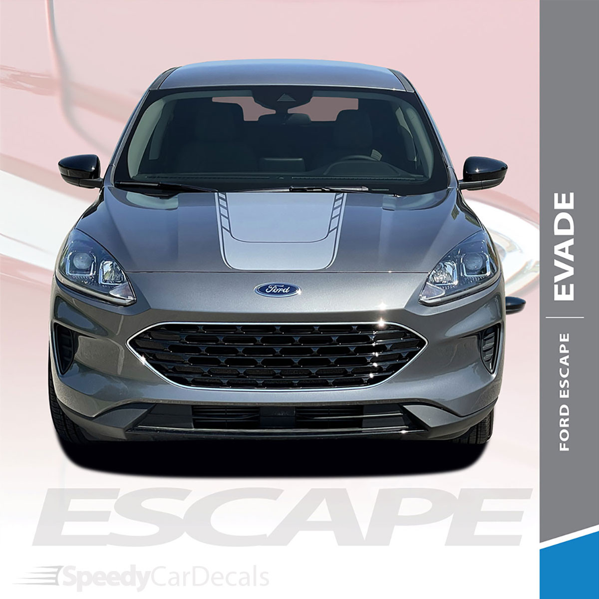NEW! 2020 Ford Escape Hood Stripes EVADE HOOD 2020-2021