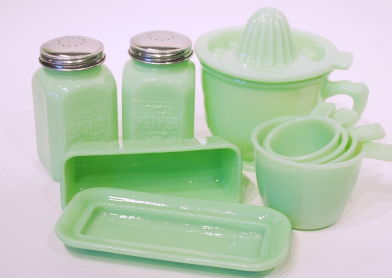 Jade Green Glassware
