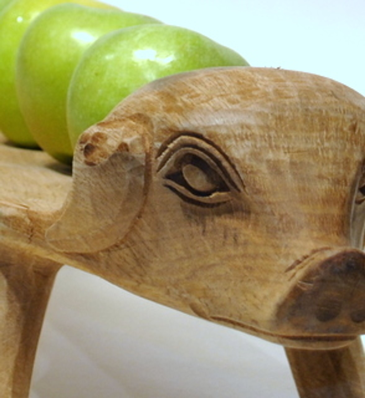 Handcarved Large Wood Pig Tray