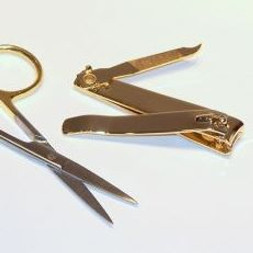 Gold-Handled Scissors and Clippers Set