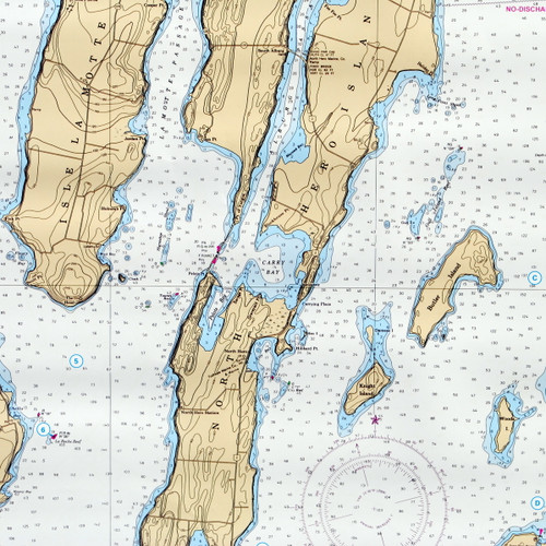 Waterproof Chart North Lake Champlain