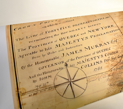 John Collins Map of Lake Champlain