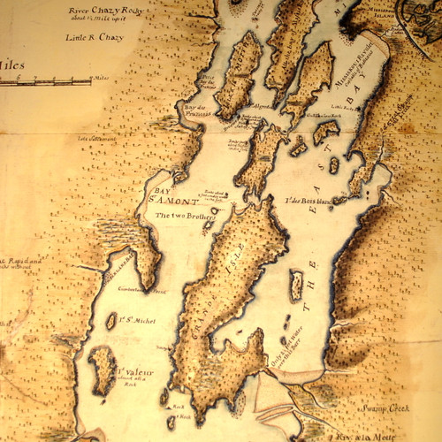 1765 Map of Lake Champlain