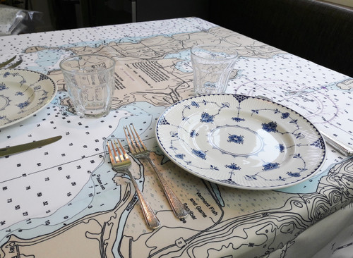 Lake Champlain Islands Tablecloth