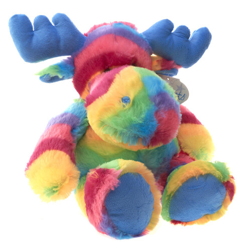 Plush Moose Rainbow