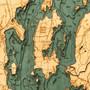 Lake Champlain Wood Map