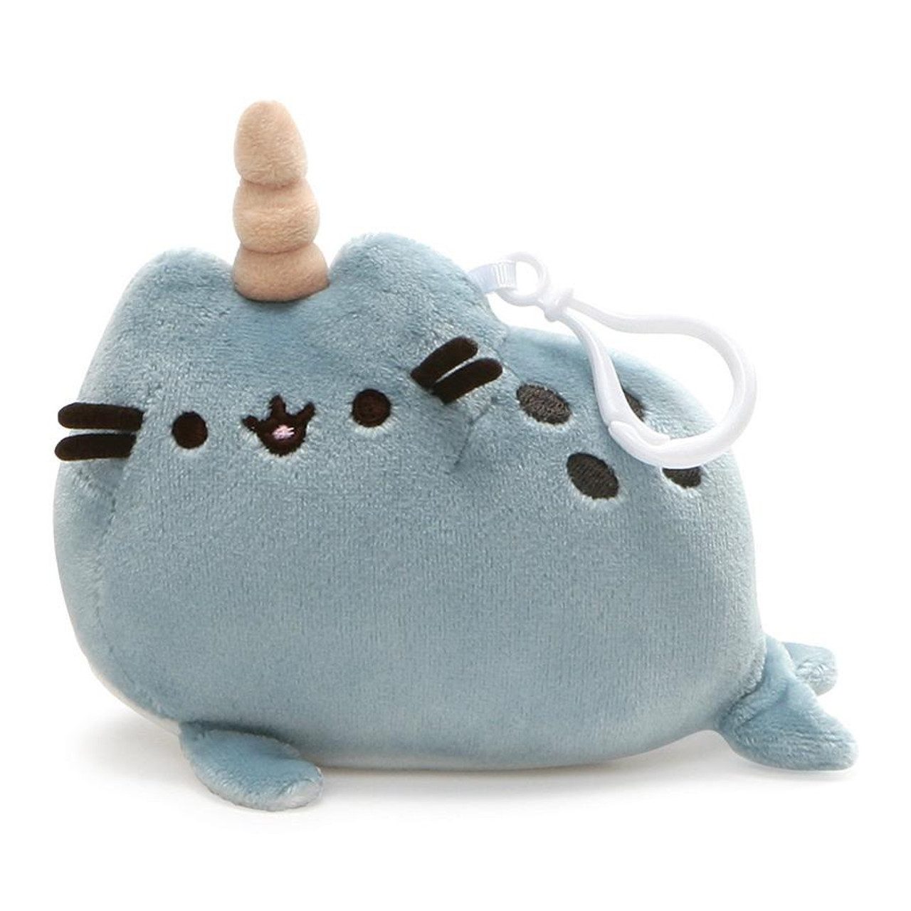 cb837fa5f Pusheen Narwhal Cat Keychain Plush - Amiko Boutique