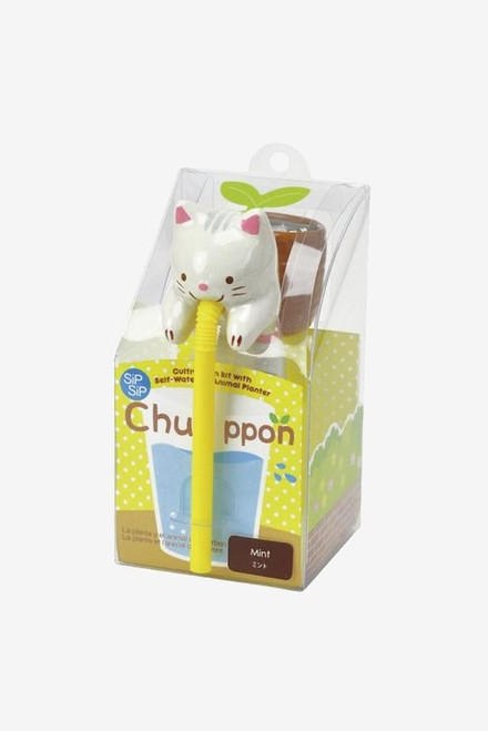 Chuppon Mint Cat Self Watering Animal Planter