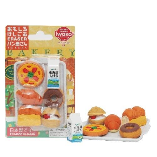 iwako - Bakery Eraser Set