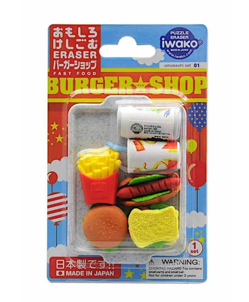 iwako - Fast Food Eraser Set