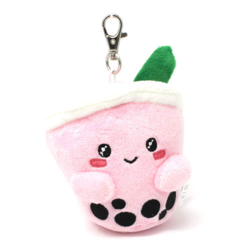 "5"" Boba Plush Keychain - Strawberry"
