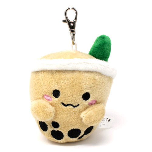 Boba Plush Keychain - Milk Tea