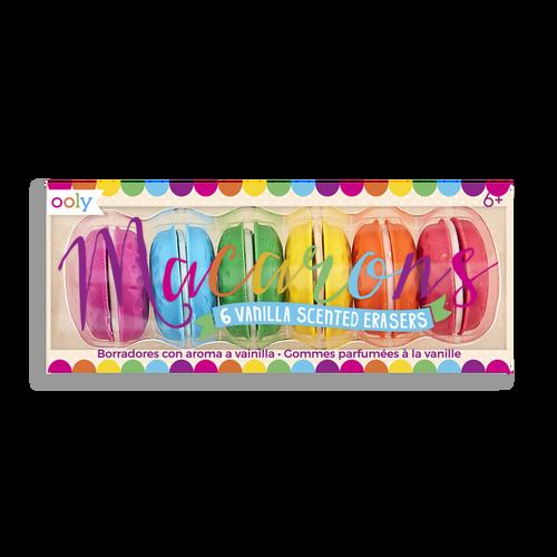 Ooly - Scented 6pc Macaron Eraser Set