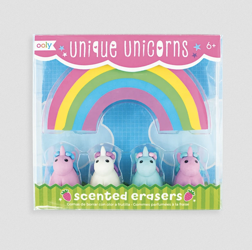 Ooly - Unique Unicorns Strawberry Scented Erasers