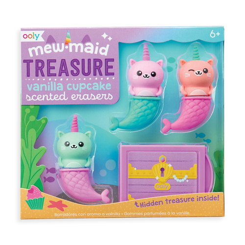 Ooly - Mewmaid Treasure Scented Erasers