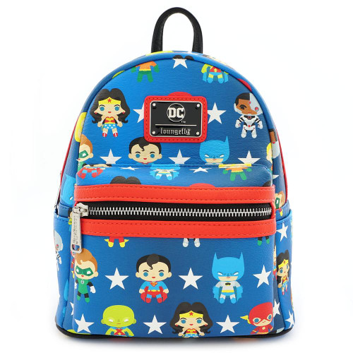 Loungefly x DC Comics Justice League Chibi Mini Backpack