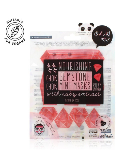 Oh K! Chok Chok Nourishing Ruby Gemstone Mini Mask