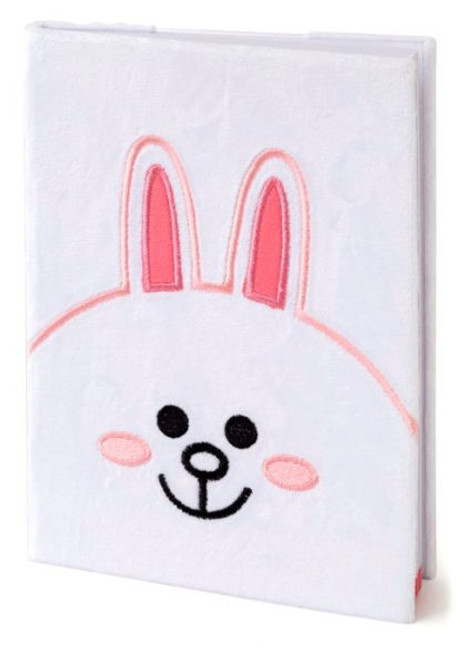 Line Friends Cony Plush Notebook