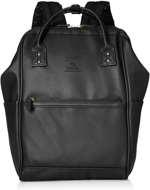 Anello Grande Mini Leather Daypack - Black