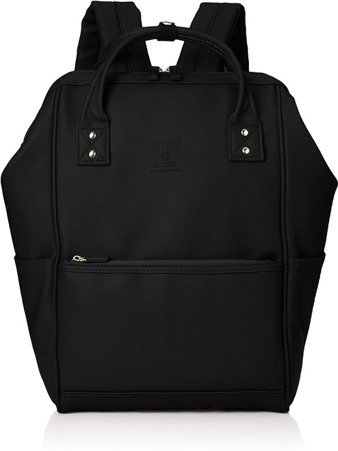 Anello Grande Regular Leather Daypack - Black