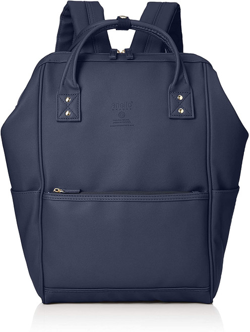 Anello Grande Regular Leather Daypack - Navy