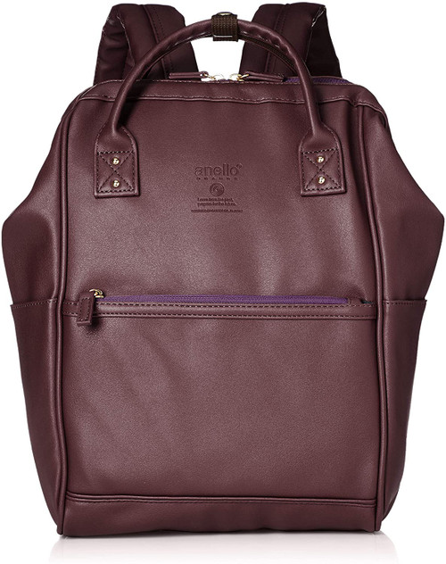 Anello Grande Mini Leather Daypack - Bordeaux