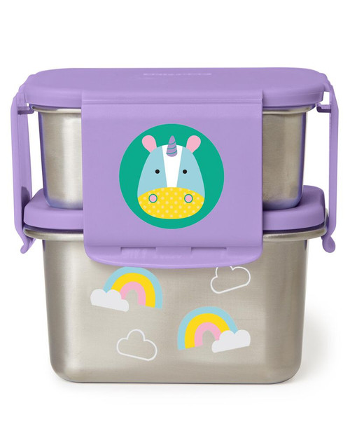 Skip Hop Zoo Stainless Steel Lunch Kit Unicorn