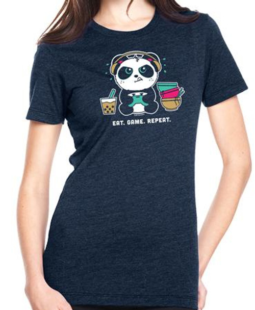 Pandi the Panda Eat. Game. Repeat T-shirt