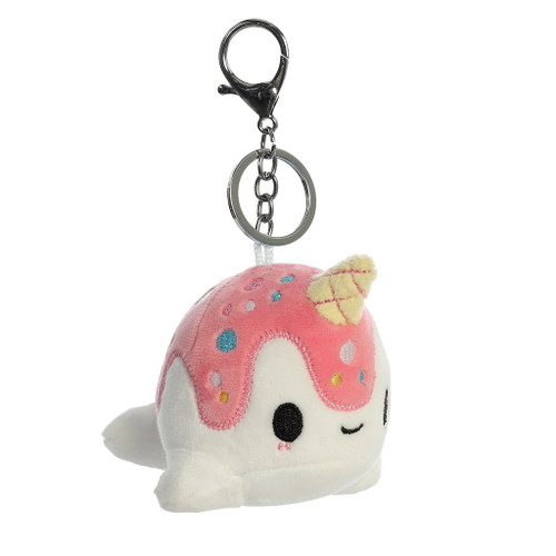 "Vanilla-Berry Nomwhal 4"" Clip-On Keychain"