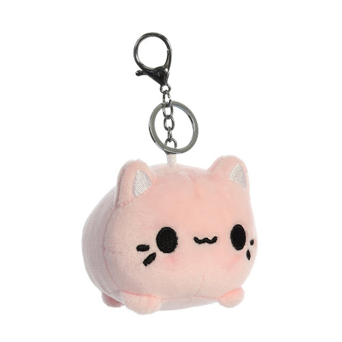 """Meowchi 3.5"""" Clip-On Keychain - Pink"""
