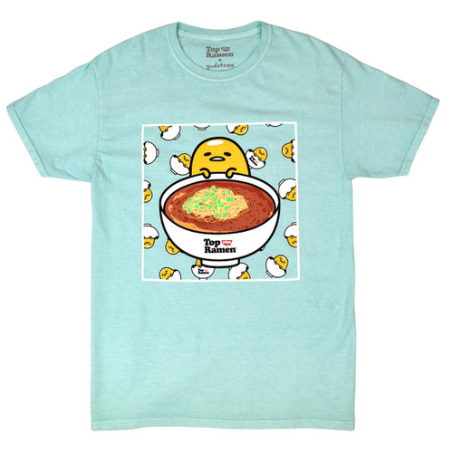 Gudetama Top Ramen Bowl Oversized Tee