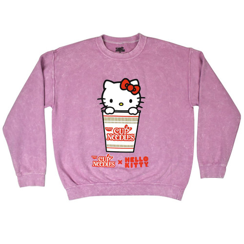Hello Kitty Cup Noodles Pink Long Sleeve Tee