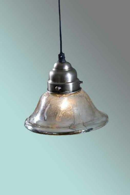 Antiqued Mercury Glass Bell Pendant