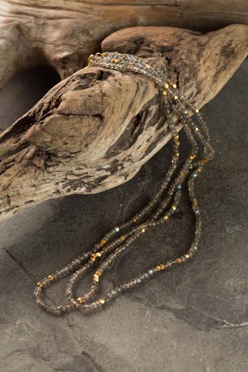 Smokey Quartz Beaded Necklace