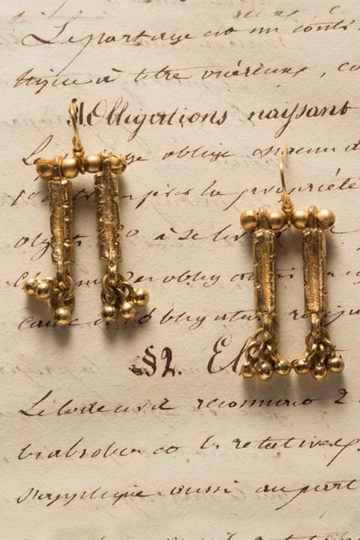 Gold Metal Temple Earrings
