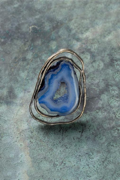 Light Blue Quartz Ring