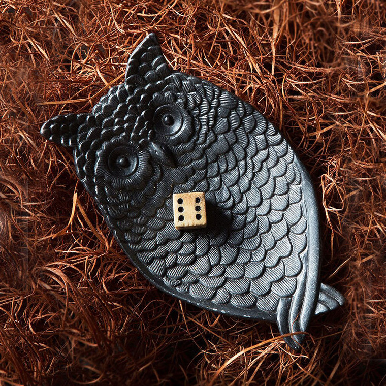 Pewter Owl Jewelry/Coin Tray in Black