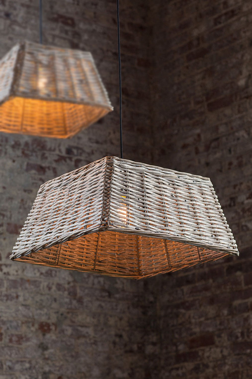 Handwoven Square Pendant Shade - Large