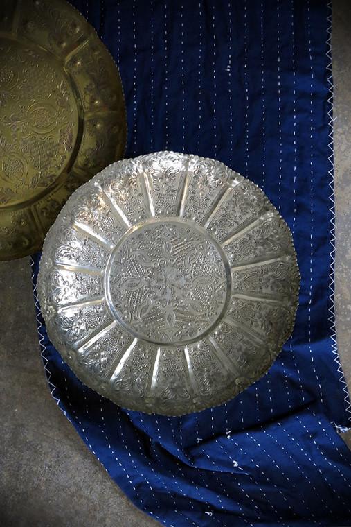 Vintage Moroccan Silver Tray