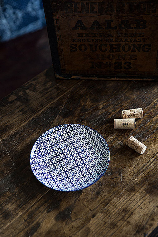 Blue and White Round Plate - I