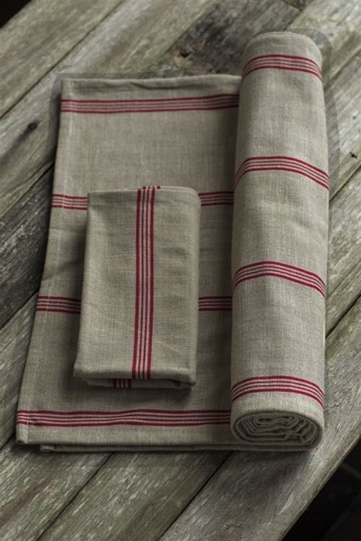 Cotton Red Striped Runner