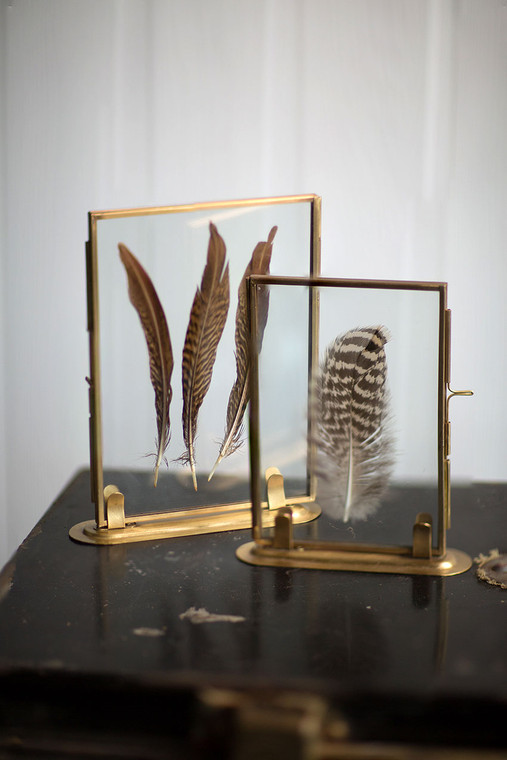 Solid Brass Frame with Stand