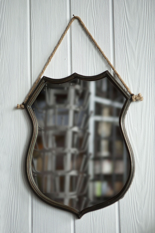 Iron Shield Frame Mirror